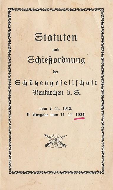 Statuten von 1912