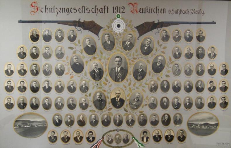 1. Vereinsbild gefertigt 1934/1935, Ergänzung 1954
