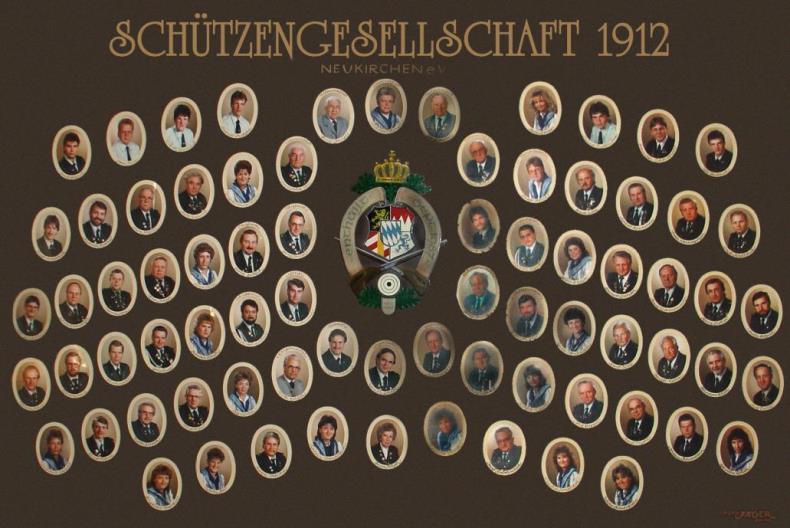2. Vereinsbild gefertigt 1987 zum 75-jährigen Jubiläum