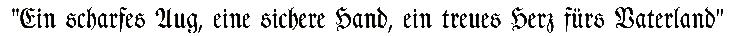 Bild Fahnenspruch