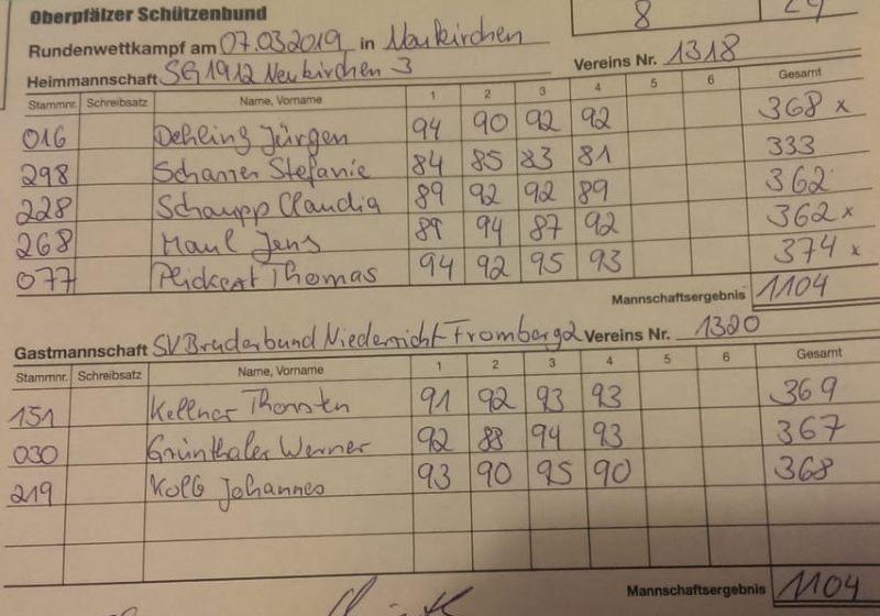 8.RWK 2.LG gegen Fromberg