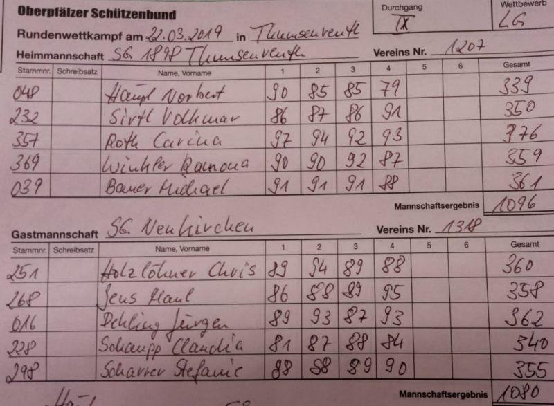 9.RWK 2.LG gegen Thumsenreuth