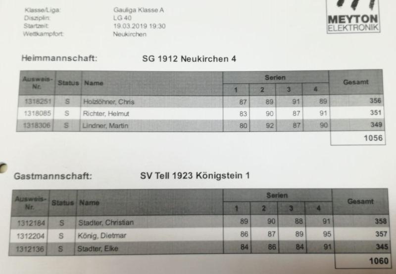 9.RWK 3.LG gegen Königstein