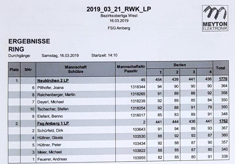 9.RWK LP gegen Amberg