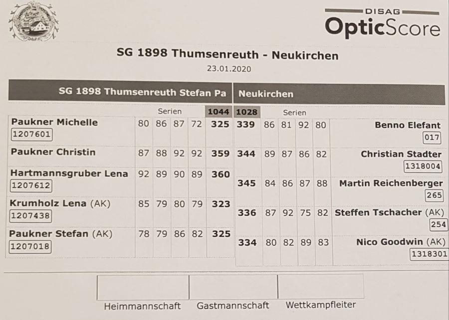 4.RWK 1.LP gegen Thumsenreuth