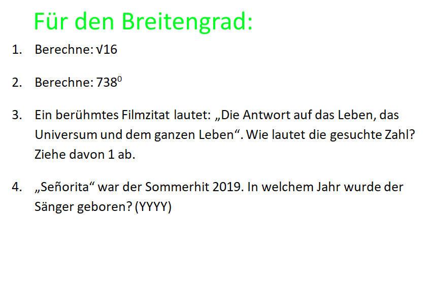 Koordinaten Breitengrad1