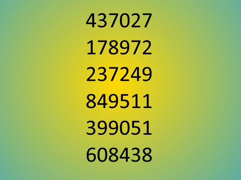 falsche Zahl
