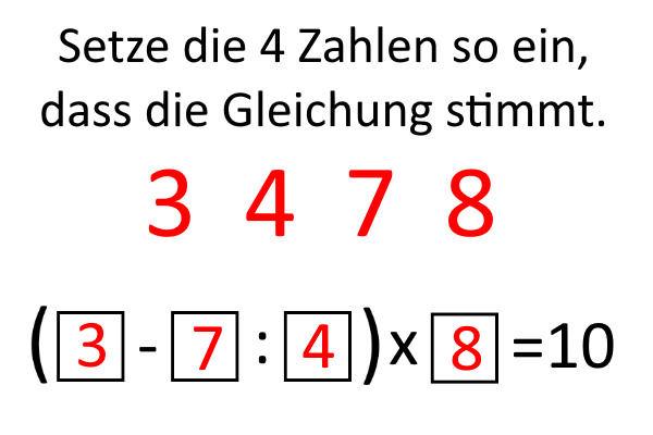 Zahlenspielerei-Lösung
